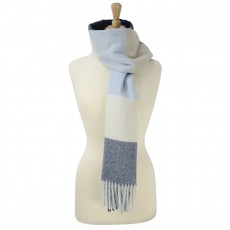 Cumbria Soft Touch Scarf (Blue and Grey)