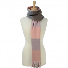 Cumbria Soft Touch Scarf (Pink and Grey)