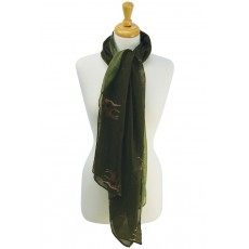 Stag Print Scarf (Forest Green)