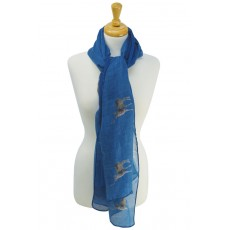 Stag Print Scarf ( Blue)