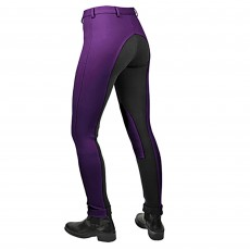 Saddlecraft Child Two-Tone Jiggy Jodhpurs (Purple & Black)