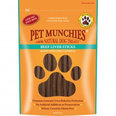 Pet Munchies Natural Dog Treats (Beef Liver Sticks)