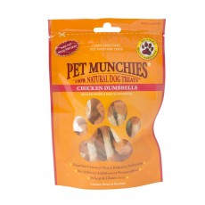 Pet Munchies Natural Dog Treats (Chicken and Rawhide Dumbells)