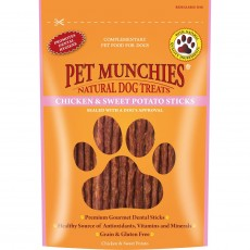 Pet Munchies Natural Dog Treats (Chicken and Sweet Potato Sticks)