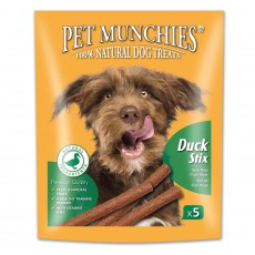 Pet Munchies Natural Dog Treats (Duck Stix)