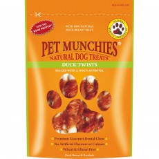 Pet Munchies Natural Dog Treats (Duck Twists)