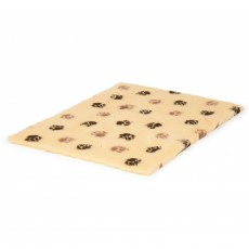 Danish Design Fleece Paw Blanket (Beige)