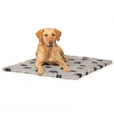 Danish Design Fleece Paw Blanket (Grey)