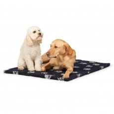 Danish Design Fleece Paw Blanket (Navy)