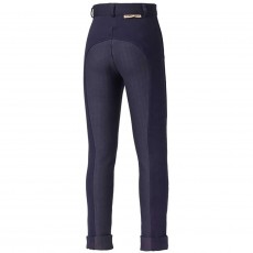 Harry Hall Junior Chester Tex Sticky Bum Breeches (Navy Blue)