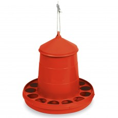 Gaun Plastic Poultry Feeder (Red)