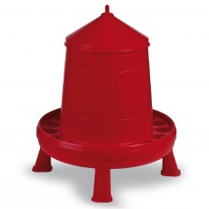 Gaun Plastic Poultry Feeder With Legs (Red)