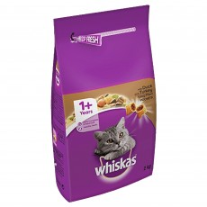 Whiskas 1+ Dry Cat Food (Duck & Turkey) 2kg