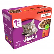 Whiskas 1+ Cat Pouches (Meaty Selection In Jelly) 12 x 100g