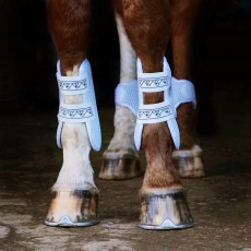 Equilibrium NEW Tri-Zone Open Fronted Tendon Boots (White)