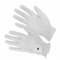 K M Elite ProGrip Gloves (White)