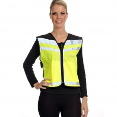 Equisafety Air Waistcoat - Horse in Training Please Slow Down (Yellow)