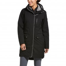 Ariat Womens Tempest Waterproof Insulated Parka (Black/Grey)