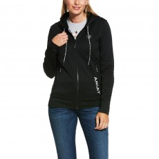 Ariat Womens Keats Full Zip Hoodie (Black)