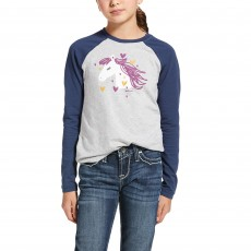 Ariat Youth My Love Long Sleeve T-Shirt (Heather Grey)