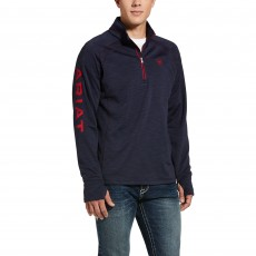 Ariat Men's Tek Team 1/2 Zip Sweatshirt (Navy Heather)