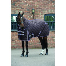 Weatherbeeta Comfitec - Diamond Quilt Stable Rug - Detach-A-Neck - Heavyweight (Charcoal/Blue)