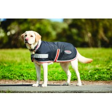 Weatherbeeta Comfitec 1200d Therapy-Tec Dog Coat (Black/Silver/Red)