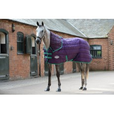 Weatherbeeta Comfitec - 210D Channel Quilt Stable Rug - Combo Neck - Mediumweight (Purple/Green)