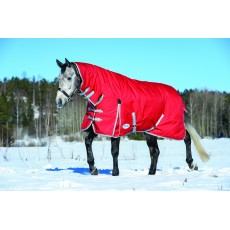 Weatherbeeta Comfitec - Classic Turnout Rug - Combo Neck - Heavyweight (Red/Silver/Navy)