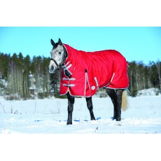 Weatherbeeta Comfitec - Classic Turnout Rug - Combo Neck - Mediumweight (Red/Silver/Navy)