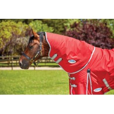 Weatherbeeta Comfitec - Classic Turnout - Neck Cover (Only) - Mediumweight (Red/Silver/Navy)