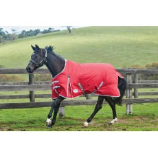 Weatherbeeta Comfitec - Classic Turnout Rug - Standard Neck - Mediumweight (Red/Silver/Navy)