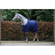 Weatherbeeta Comfitec - Deluxe Diamond Quilt Stable Rug - Standard Neck - Heavyweight (Navy)