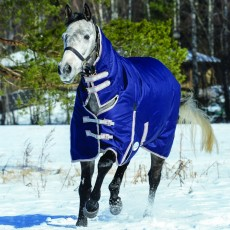 Weatherbeeta Comfitec - Essential Turnout Rug - Combo Neck - Heavyweight (Navy/Silver/Red)