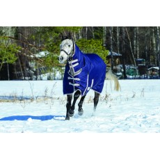 Weatherbeeta Comfitec - Essential Turnout Rug - Combo Neck - Mediumweight (Navy/Silver/Red)