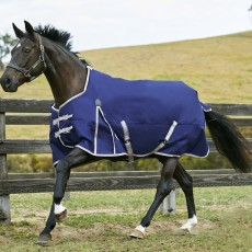 Weatherbeeta Comfitec - Essential Turnout Rug - Standard Neck - Mediumweight (Navy/Silver/Red)