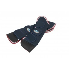 Weatherbeeta Deluxe Travel Boots (Navy/Red/White)