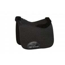 Weatherbeeta Dressage Saddle Pad With Merino Edging (Black)