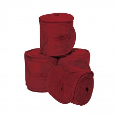Weatherbeeta Fleece Bandage 4 Pack (Maroon)