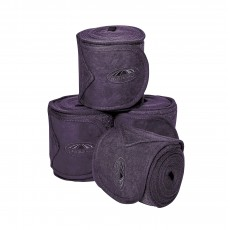 Weatherbeeta Fleece Bandage 4 Pack (Purple Penant)