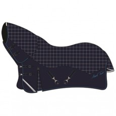 Mark Todd Lightweight Combo Turnout Rug 100gm (Navy, Beige & Royal)
