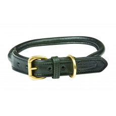 Weatherbeeta Rolled Leather Dog Collar (Black)
