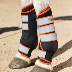 Weatherbeeta Therapy-Tec Stable Boot Wraps (Black/Silver/Red)