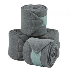 Saxon Coordinate Fleece Bandages 4 Pack (Grey)