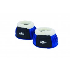 Saxon Fleece Trim Rubber Bell Boots (Navy/White)