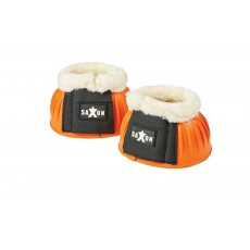 Saxon Fleece Trim Rubber Bell Boots (Orange/White)