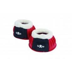 Saxon Fleece Trim Rubber Bell Boots (Red/White)