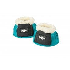 Saxon Fleece Trim Rubber Bell Boots (Turquoise/White)