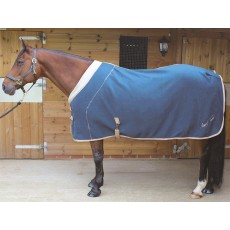 Mark Todd Deluxe Fleece Rug (Navy & Beige)