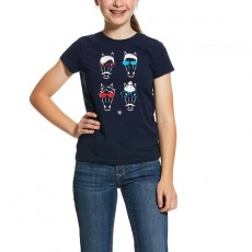 Ariat Girl's Hipster T-Shirt (Navy)